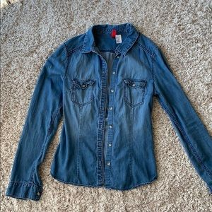Mock denim jacket
